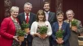 Die SPD-Fraktion im Königsbrunner Stadtrat (v.l.) Andrea Collisi, Wilhelm Terhaag, Petra Fischer, Florian Kubsch, Cornelia Ludescher, Wolfgang Peitzsch