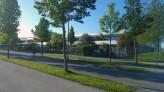 Römerallee vor der Mittelschule Süd (Foto: Petra Fischer)